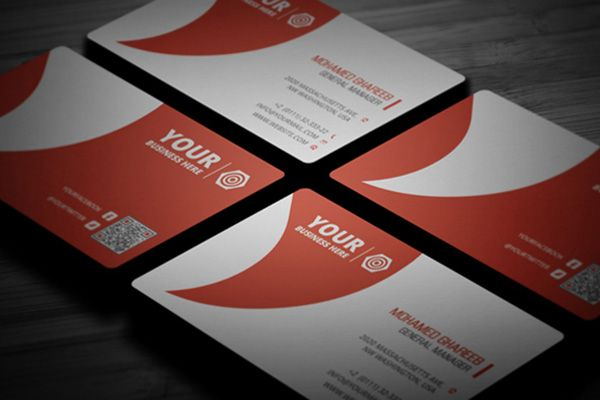 28 best premium business cards images on pinterest premium creative corporate business card template with embedded qr code and dominant red color reheart Images