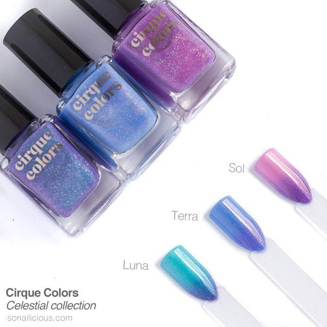 Cirque Colors Celestial Collection Review Nail Polish Thermal Nail Polish Purple Nails