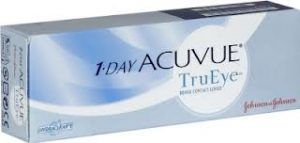 1 Day Acuvue TruEye is the world's first daily disposable contact lens that is made of a new breathable silicone hydrogel material which transmits 98% of the oxygen to your eyes.