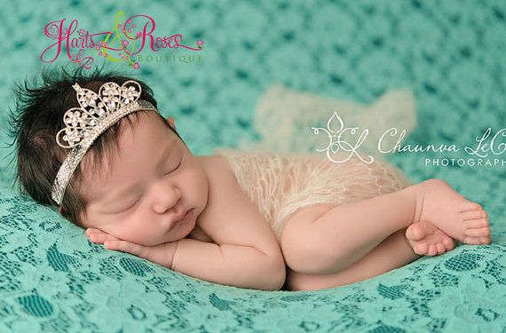 Baby Tiara Headband.Baby Girl Tiara Headband.Baby Headband.Princess Tiara Headband.Rhinestone Headband.Newborn Headband.Tiara Crown Princess on Etsy, $12.95