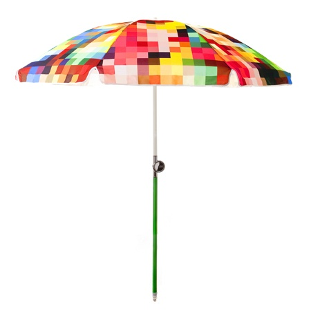 Basil Bangs Le Pixel beach umbrella, stocked by Tait Outdoor