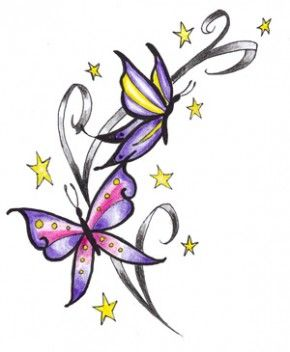 Butterfly Tattoos photo: Visit our site http://www.butterflytattoosreview.com for more information on Butterfly Tattoos. Butterfly Tattoos can symbolize a peaceful mind or a playful  life or a colorful and enjoying environment. Cute butterfly tattoos are good to the eyes and can make you even more attractive and stylist. This photo was uploaded by butterfliestattoos
