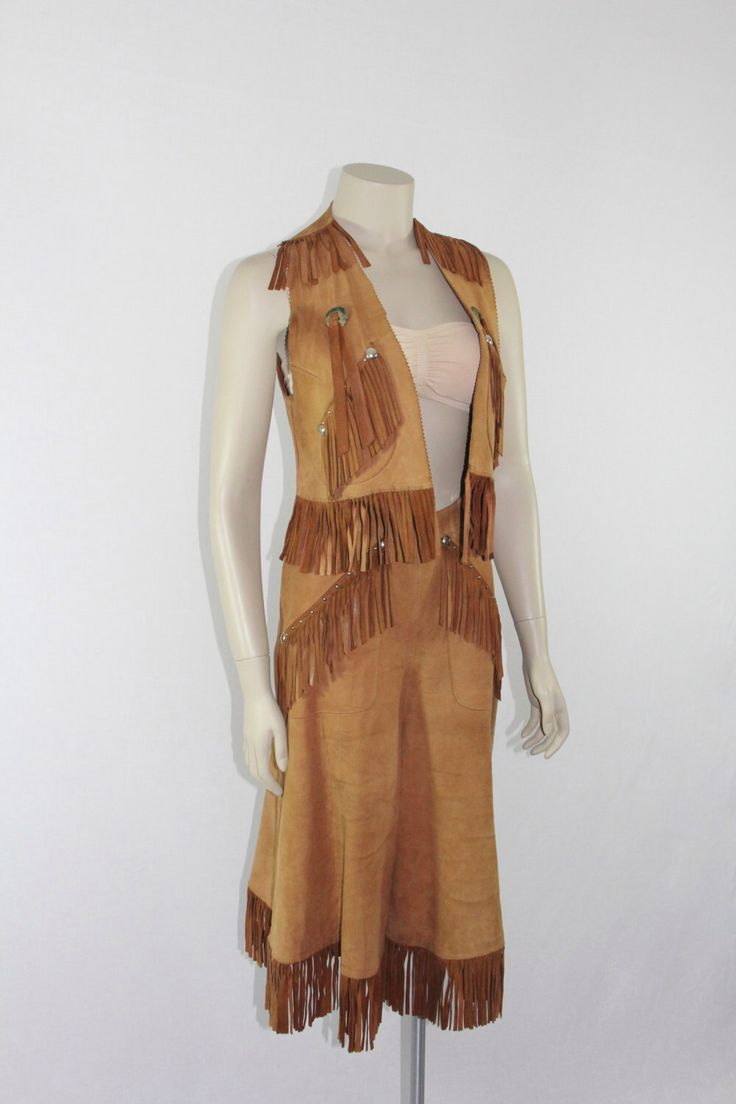 1950s Cowgirl Riding Outfit / Suede 50s Gaucho & Vest with Fringe Vintage Country Western Rockabilly Pin Up Costume Rodeo by VintageFrocksOfFancy on Etsy https://www.etsy.com/listing/210454392/1950s-cowgirl-riding-outfit-suede-50s