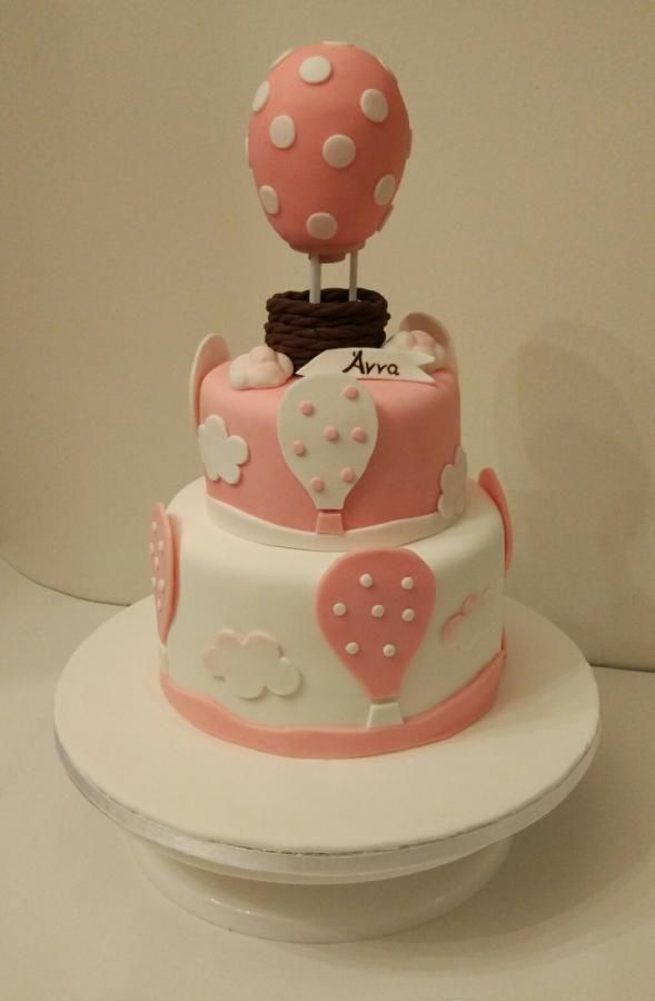 Pink hot air balloon - Cake by nef_cake_deco