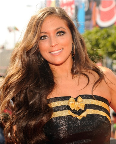 """Sammi """"Sweetheart"""" Giancola of MTV's 'Jersey Shore' photographed on the red carpet at the 2012 MTV Video Music Awards in Los Angeles.   MTV Photo Gallery"""