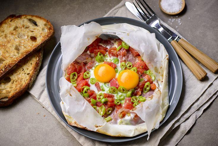 Kağıtta Pastırmalı Yumurta | Beyaz Fırın Blog