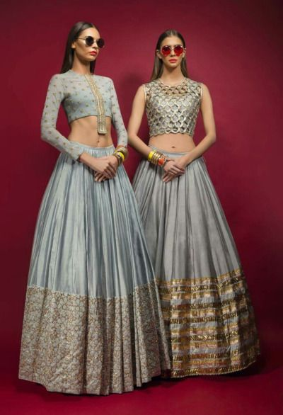 Sabyasachi Light Blue Embroidered #Lehengas.