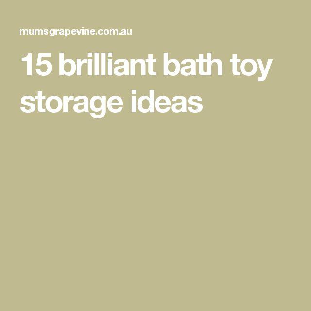 1000 Ideas About Bath Toy Storage On Pinterest Kids