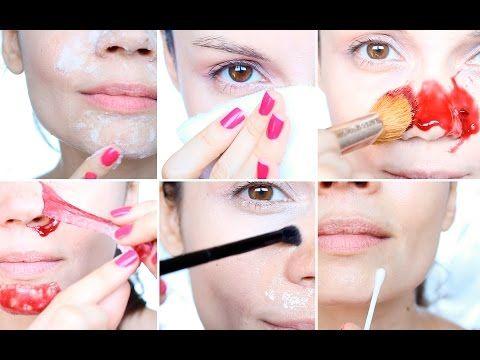 Cómo eliminar puntos negros, poros abiertos e imperfecciones   Tutorial piel perfecta - YouTube