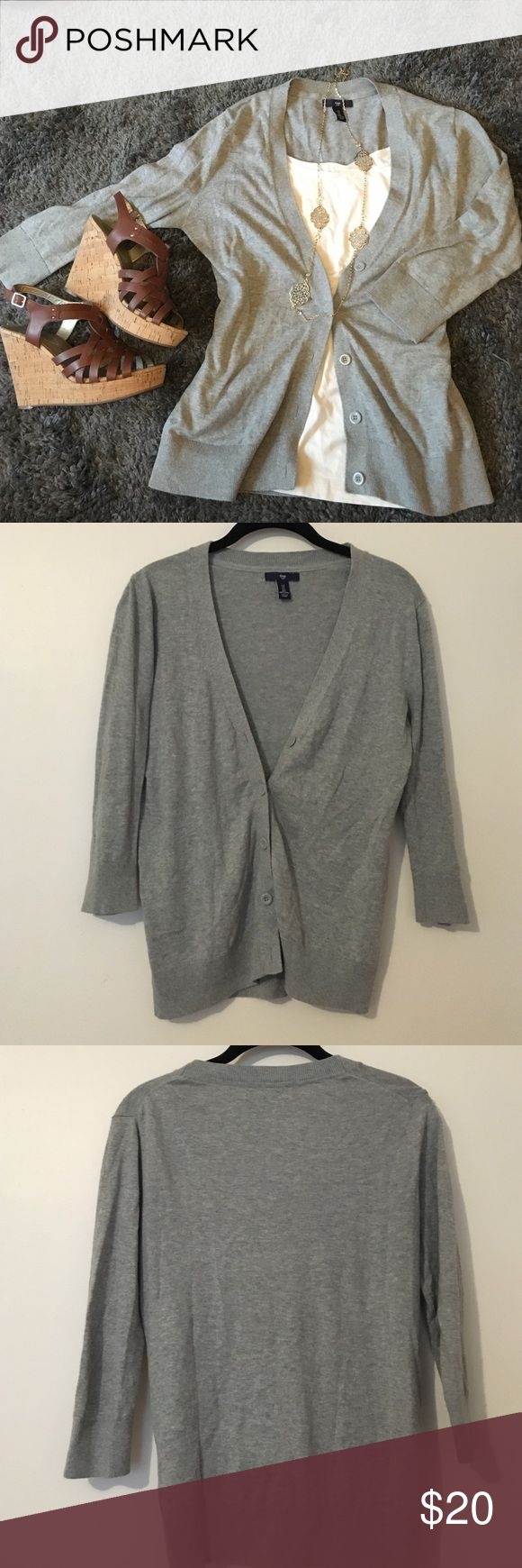 Grey cardigan Channel your inner Taylor Swift with a classic grey cardigan! Perfect to pair with any outfit and insanely comfortable, this cardigan is great for all seasons! GAP Sweaters Cardigans