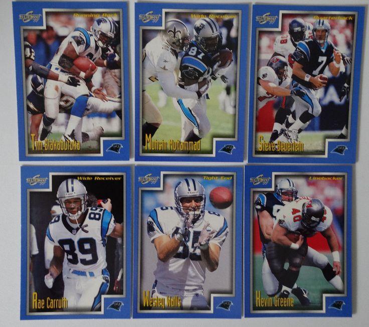 1999 Score Series 1 Carolina Panthers Team Set of 6 Football Cards #CarolinaPanthers