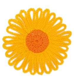 Free Crochet Flower Patterns | myLifetime.com - Shown Here: Sunny Flower ~k8~