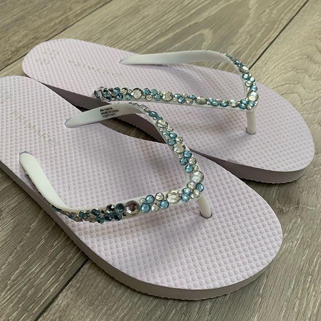 My bridesmaid flip flops for my sisters