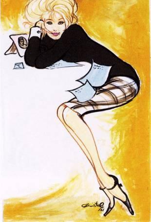 """Illustration fra bogen """"Christel - kvinde"""