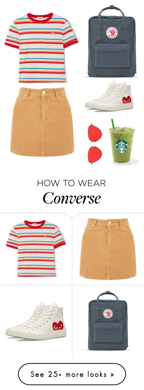 """""""Basic Girly"""" by tissamxxx on Polyvore featuring Topshop, RE/DONE, Fjällräven and Converse"""