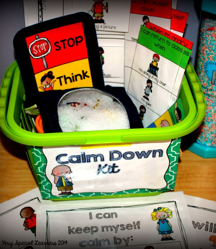 """Calm Down Kit""-great for managing behaviors!"