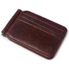 Slim Spring Money Clip Wallet - Front Pocket Credit Card Case Holder