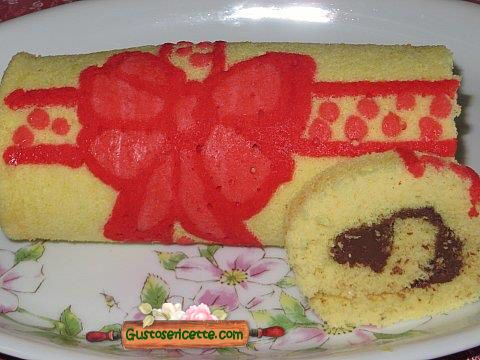 Rotolo decorato fiocco rosso - Gustose ricette di cucina