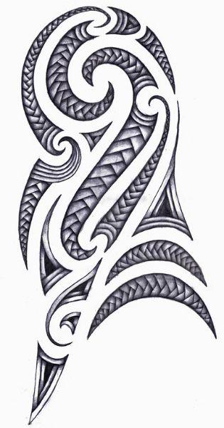 Polynesian design for half sleeve tattoo