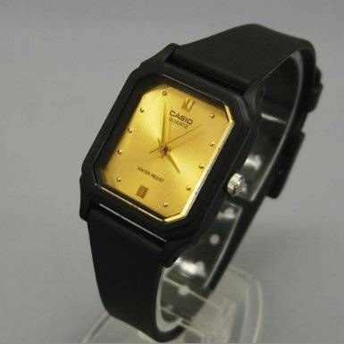 CASIO 腕時計 レディース LQ-142E-9A (文字盤ゴールド) [LQ-142E-9A ...