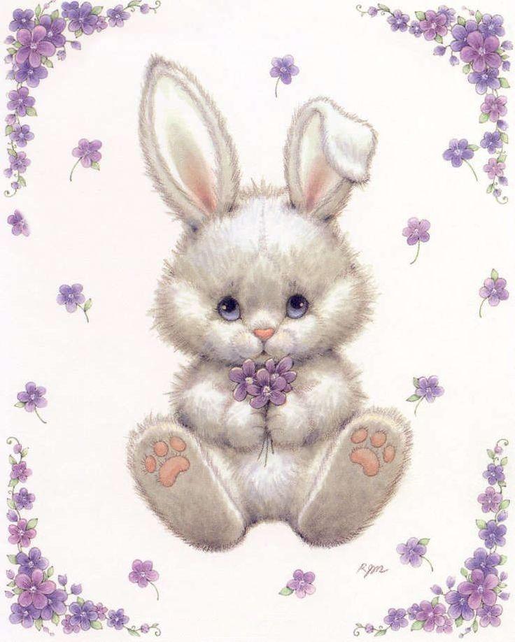 Заяц с сердечком открытка, днем рождения