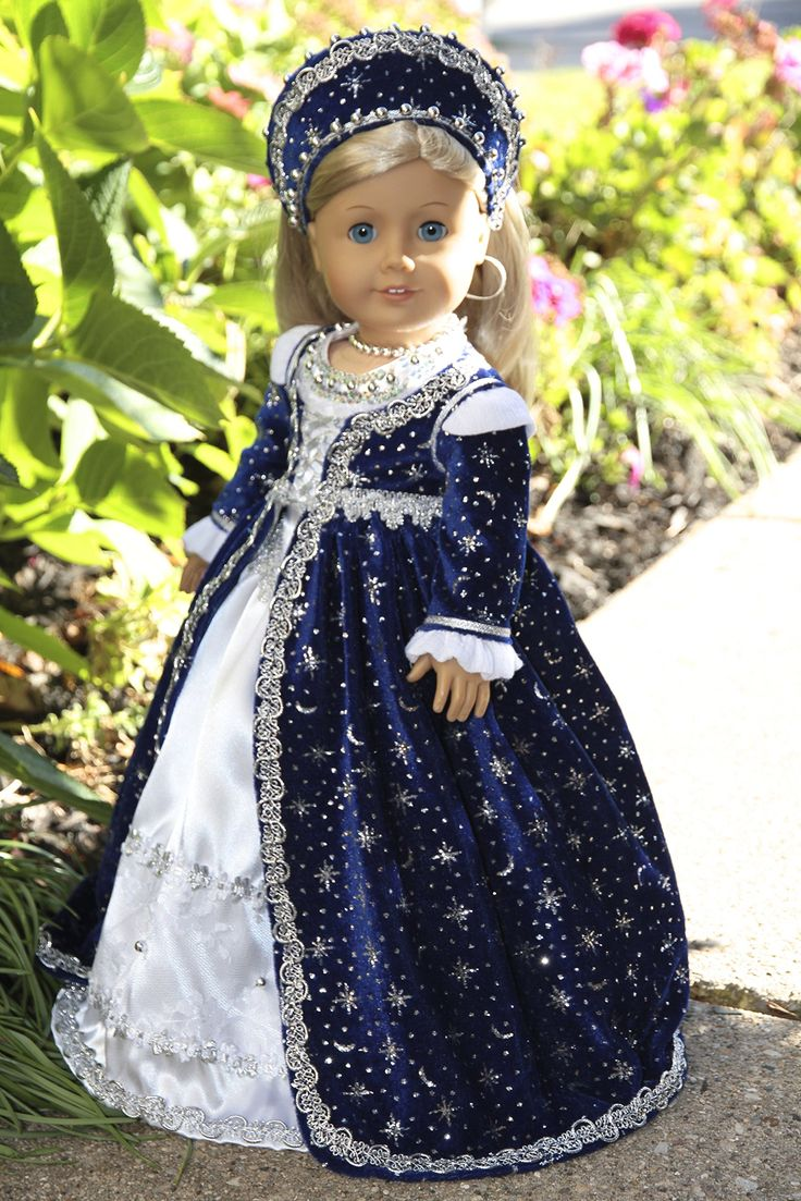 Amazon.com: Queen of the Night - Midnight blue velvet gown, white dress, headdress, petticoat, shoes and jewelry.: Toys & Games