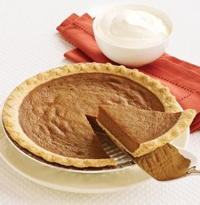 PUMPKIN PIE. At M, pumpkin is always in season. Dress up our perfectly spiced pie with whipped cream or a cool scoop of ice cream and enjoy this classic pie any time of the year. Thaw and serve. - M & M Meat Shops