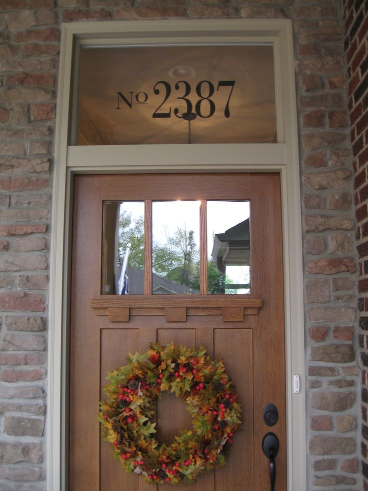 """TRANSOM WINDOW ADDRESS  Went to Etsy and found  """"Allison of Single Story"""" made mine mirrored it so I could apply it to the inside window.   This window makeover only cost me $14.00.  I am so pleased with the quality and results.   Pop on over to her shop and check out her custom door vinyls!"""