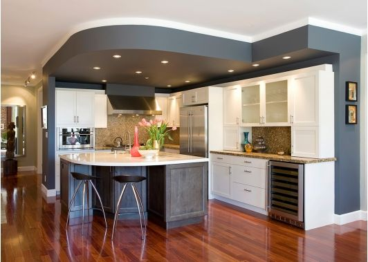 beautiful kitchen design with white cabinets - Creative Kitchen Design