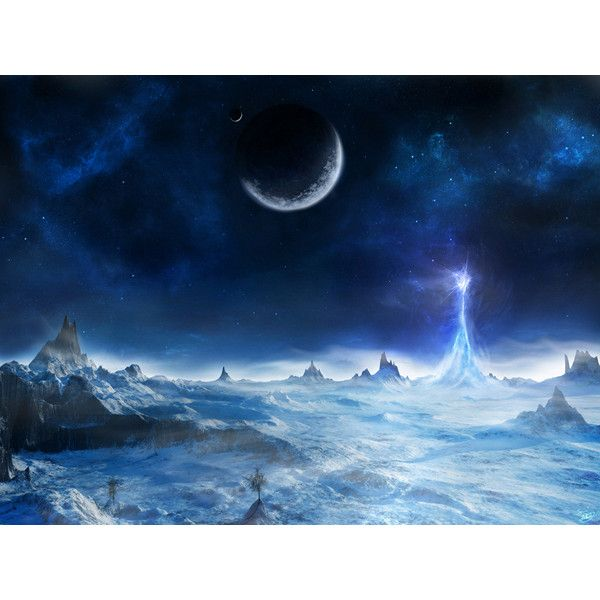 Full HD Wallpapers + Space, Blue, Ice, Planets, Landscapes, by Sami... ❤ liked on Polyvore featuring backgrounds