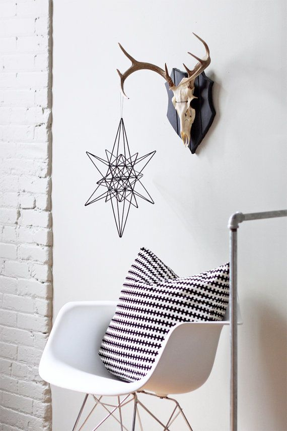 Moravian Star Himmeli / Modern Hanging Mobile / by HRUSKAA on Etsy