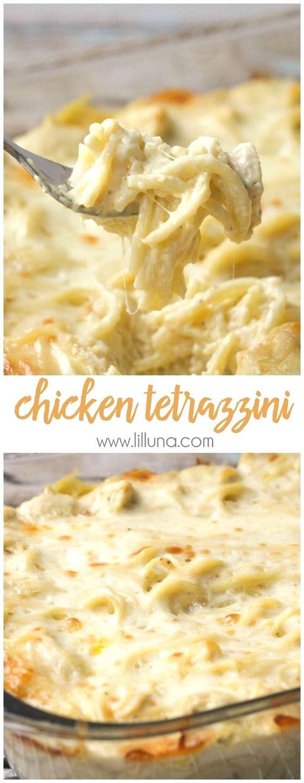 Easy and delicious Cheesy Chicken Tetrazzini - a family…