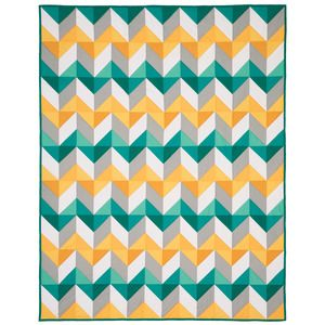 Easy Strip Chevron Template and Pattern -  Shortcut your way to a crisp designer quilt with minimal fabric waste - Sewing With Nancy - Nancy's Notions