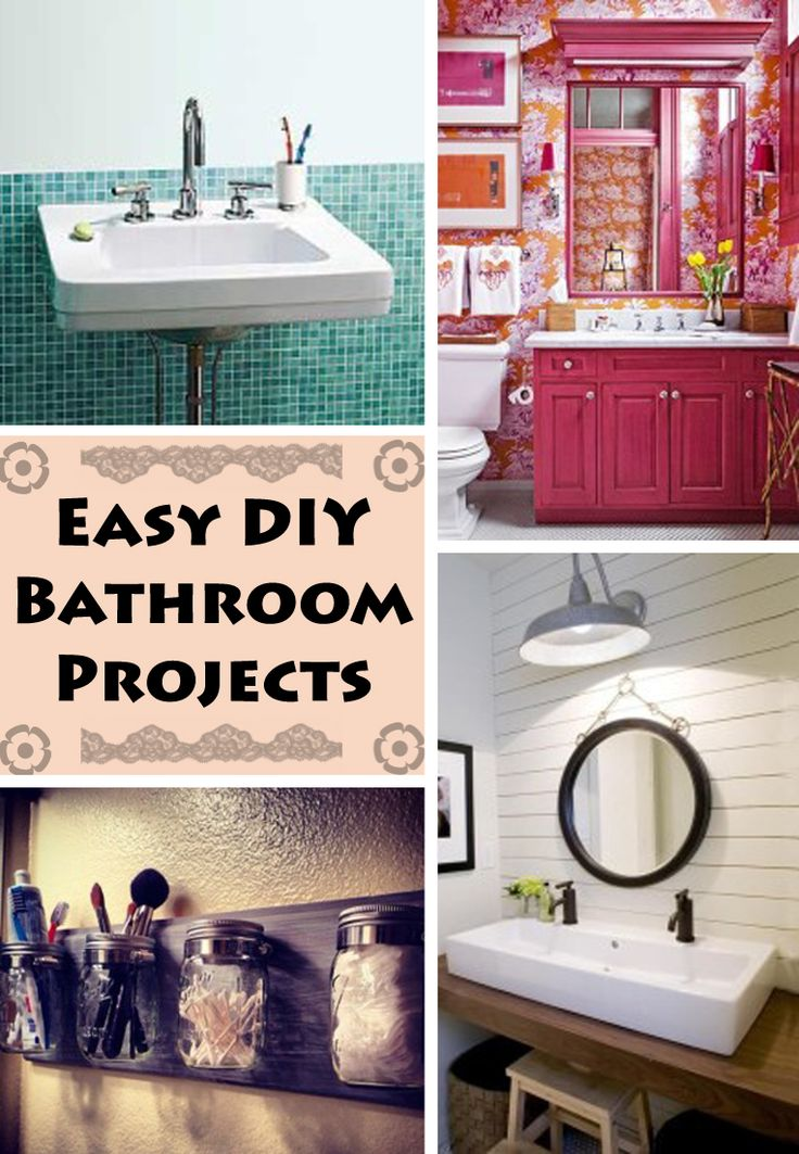 4 Diy Bathroom Projects Any Penny Pincher Will Love Money Easy Diy And Home Renovation