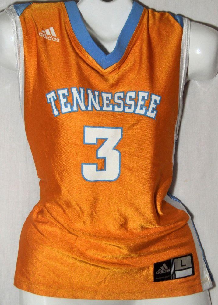 UNIVERSITY OF TENNESSEE UT LADY VOLS Basketball NCAA Adidas Jersey Sz L #3 #adidas #TennesseeVolunteers