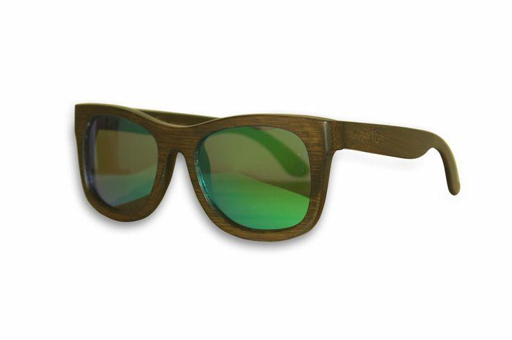 Madfas gafas en madera - CIRRUS – Oscuro / Lente Verde