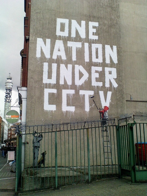The Establishing Shot: BANKSY ONE NATION, NEWMAN STREET, LONDON by Craig Grobler, via Flickr