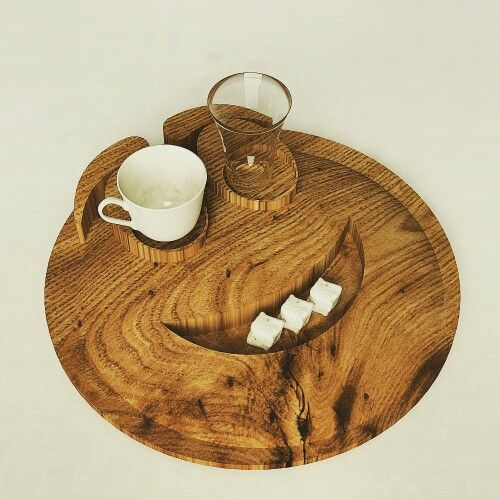 Smile☺ wooden Coffee Presentations