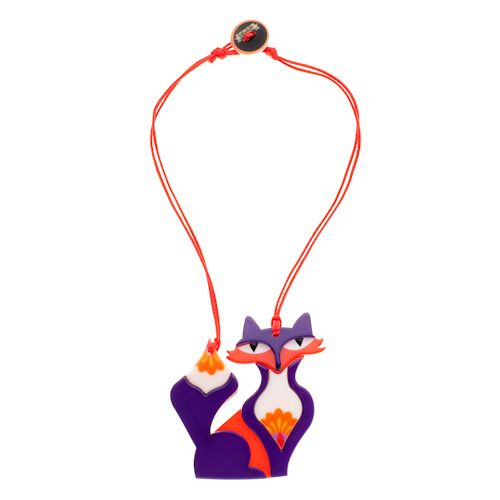 **VERY RARE, LAST ONE!!** Limited edition Erstwilder Paloma Prairie Fox necklace by Louisa Camille. $39.95