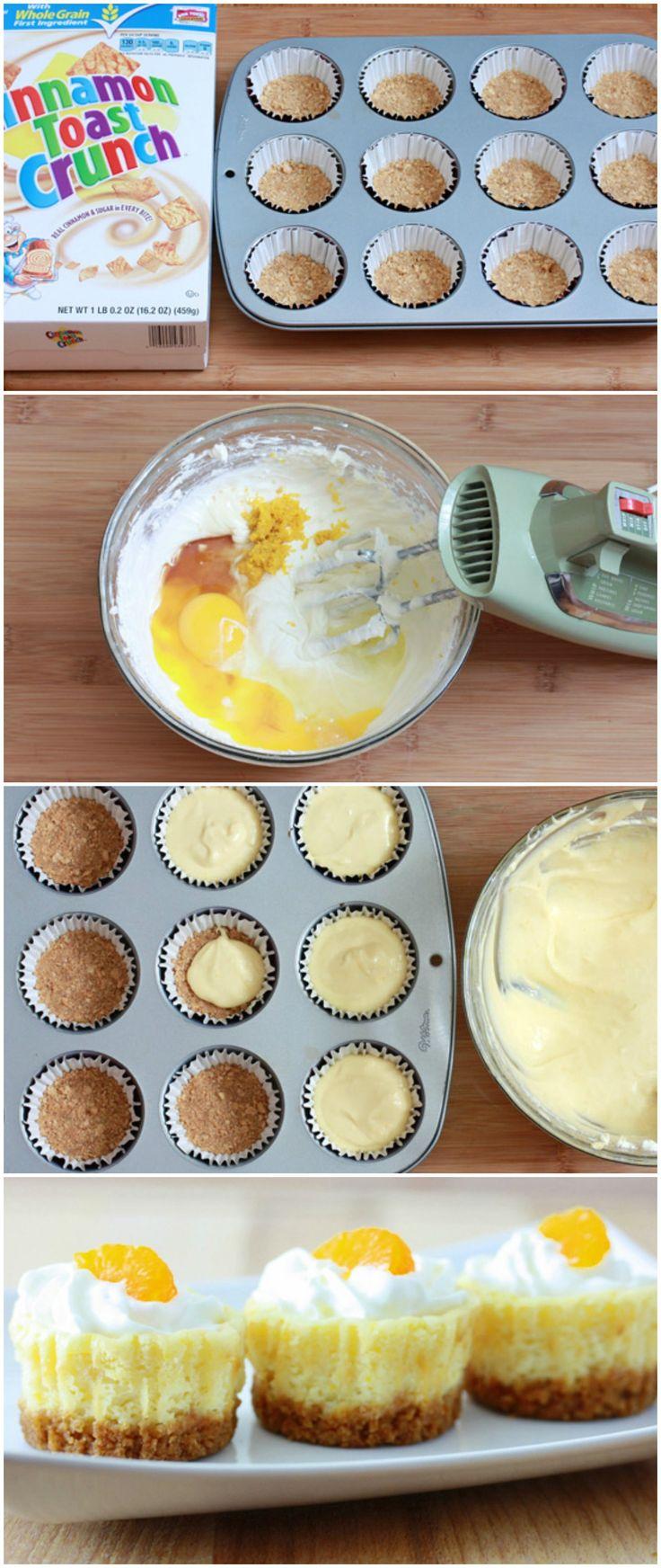 Mini Mandarin Orange Cheesecakes