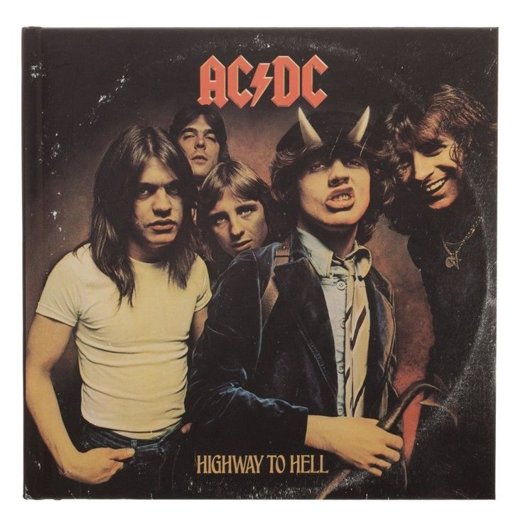 ACDC Album Cover JOURNAL 7x7in. Blank Lined Pages Band Highway to Hell AC DC #Bioworld