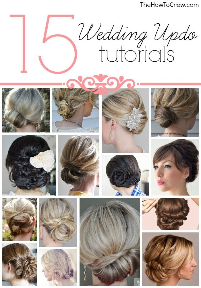 15 Wedding Hair Updo Tutorials from TheHowToCrew.com.  Tutorials to help you have the perfect hair on your big day! #beauty #hair #wedding #tutorials