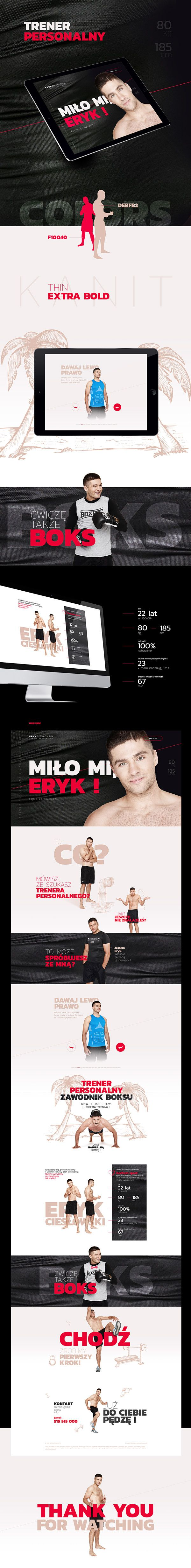 Web design. Modern website. Personal Trainer Website.