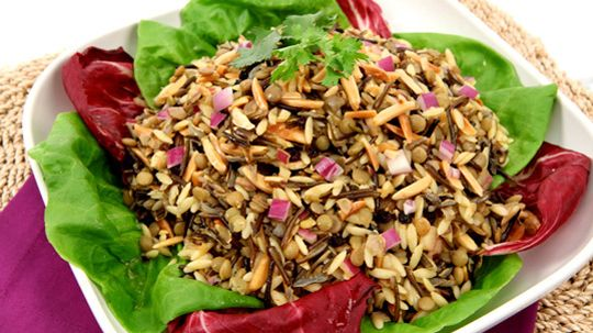 Curried Lentil, Wild Rice and Orzo Salad