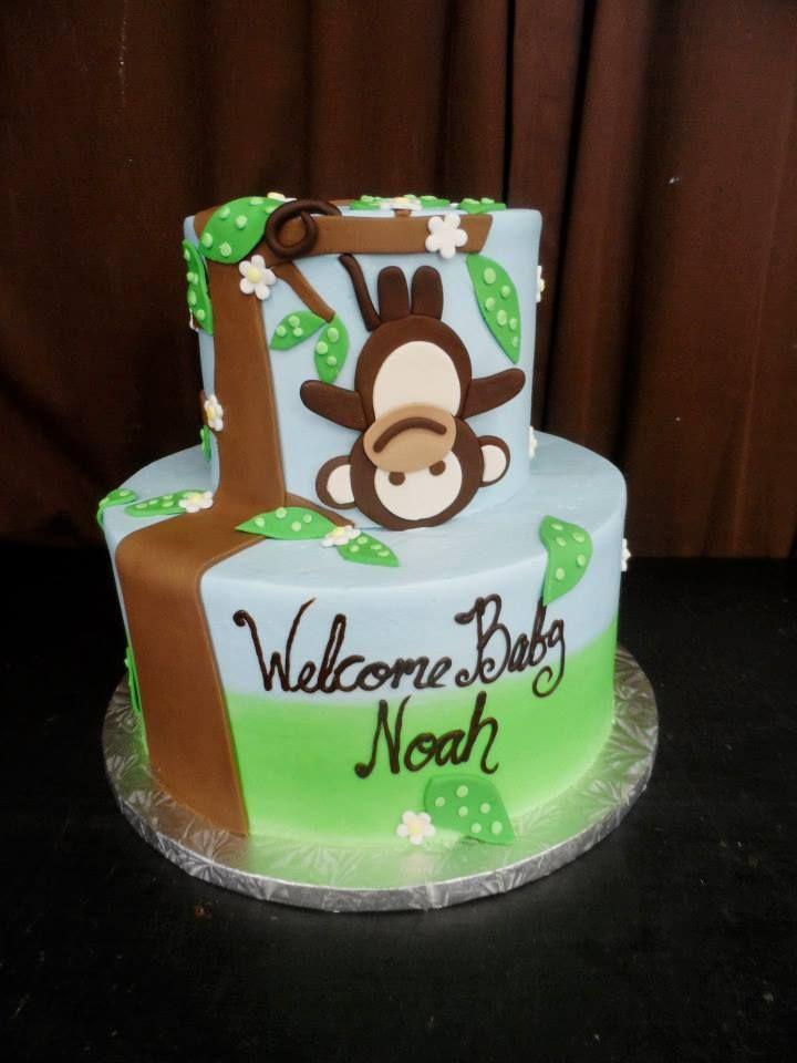 Baby Shower Cake Ideas Monkey Diabetesmangfo
