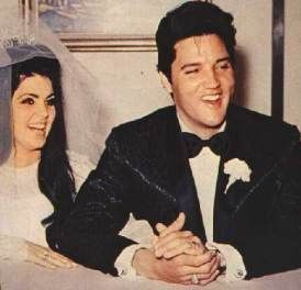 Elvis and Cilla during the press conference immediately following their wedding.