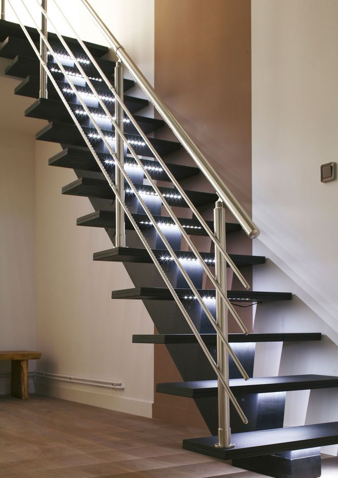 Meer dan 1000 afbeeldingen over stairs op pinterest for Escalier bois interieur