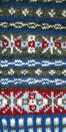 Katie's Pattern red/grey variation detail