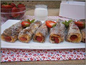 La Cocina de los inventos: Tostadas francesas enrolladas con Fresas