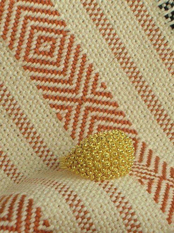 Fede sarda tradizionale in oro a cinque file